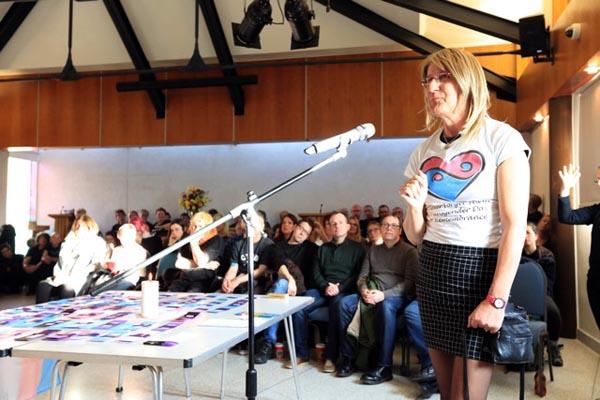 Katie speaks at Brighton Transgender Day Of Remembrance Service