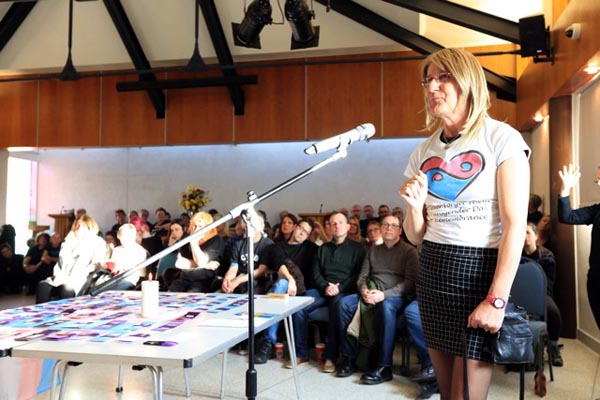 Katie speaks at Brighton Transgender Day Of Remembrance Service