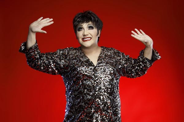 Trevor Ashley as Liza Minnelli. Photo John McRae