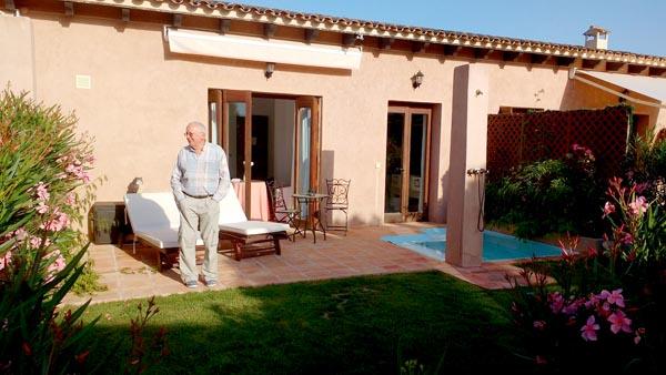 Private terrace with jacuzzi at Hotel Es Lloquet – the Secret Place
