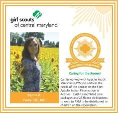 Gold Award for facebook Caitlin Phillips