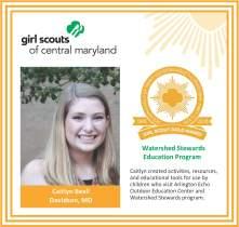 Gold Award for facebook Caitlyn Beall