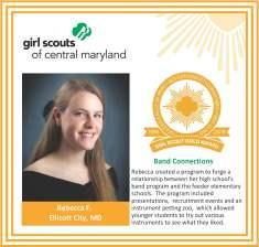 Gold Award for facebook Rebecca Freerksen