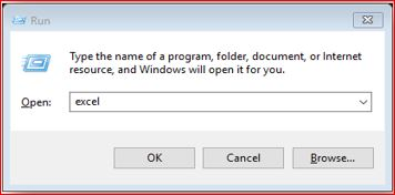 How to Open Excel with Run Command