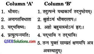 GSEB Solutions Class 10 Sanskrit Chapter 2 यद्भविष्यो विनश्यति