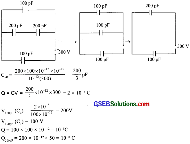GSEB Solutions Class 12 Physics Chapter 2 Electrostatic Potential and Capacitance 21