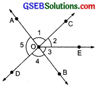 GSEB Solutions Class 7 Maths Chapter 5 Lines and Angles Ex 5.1 4