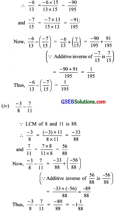 GSEB Solutions Class 7 Maths Chapter 9 Rational Numbers Ex 9.2 6