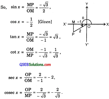 GSEB Solutions Class 11 Maths Chapter 3 Trigonometric Functions Ex 3.2 img 1