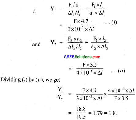 GSEB Solutions Class 11 Physics Chapter 9 Mechanical Properties of Solids img 1