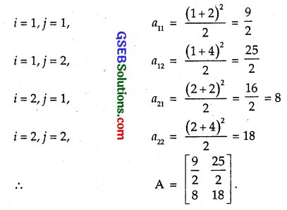 GSEB Solutions Class 12 Maths Chapter 3 Matrices Ex 3.1 3