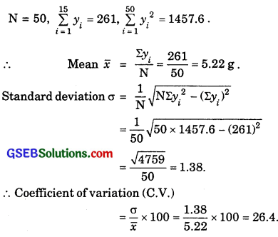 GSEB Solutions Class 11 Maths Chapter 15 Statistics Ex 15.3 img 13