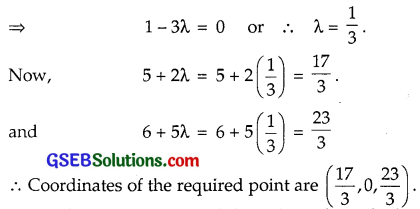 GSEB Solutions Class 12 Maths Chapter 11 Three Dimensional Geometry Miscellaneous Exercise img 9