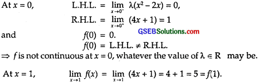 GSEB Solutions Class 12 Maths Chapter 5 Continuity and Differentiability Ex 5.1 5