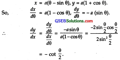 GSEB Solutions Class 12 Maths Chapter 5 Continuity and Differentiability Ex 5.6 2