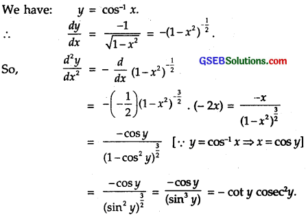GSEB Solutions Class 12 Maths Chapter 5 Continuity and Differentiability Ex 5.7 4