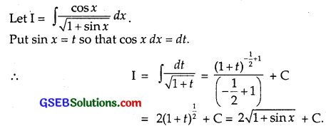 GSEB Solutions Class 12 Maths Chapter 7 Integrals Ex 7.2 img 27