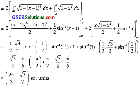 GSEB Solutions Class 12 Maths Chapter 8 Application of Integrals Ex 8.2 img 4