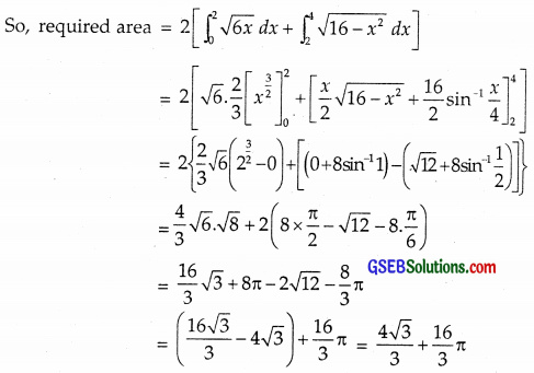 GSEB Solutions Class 12 Maths Chapter 8 Application of Integrals Miscellaneous Exercise img 38