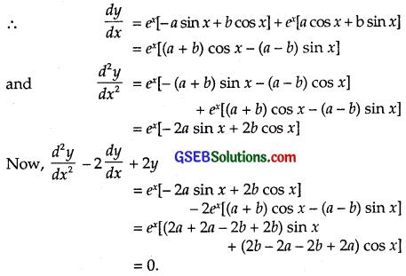 GSEB Solutions Class 12 Maths Chapter 9 Differential Equations Miscellaneous Exercise img 1
