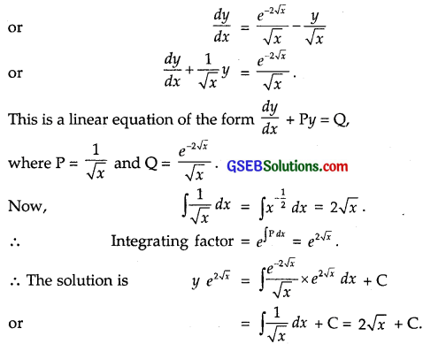 GSEB Solutions Class 12 Maths Chapter 9 Differential Equations Miscellaneous Exercise img 15