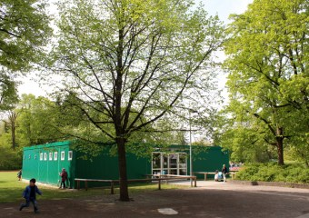 Der Pavillon mit zwei Klassenzimmern