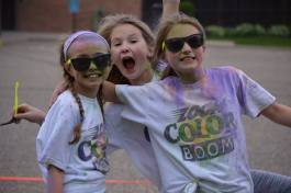 Fellowship and Fun. By participating in various charitable activities (like the school's annual Color Run fundraiser), students learn the value of service.