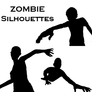 Zombie Silhouette 6 Pack Bundle