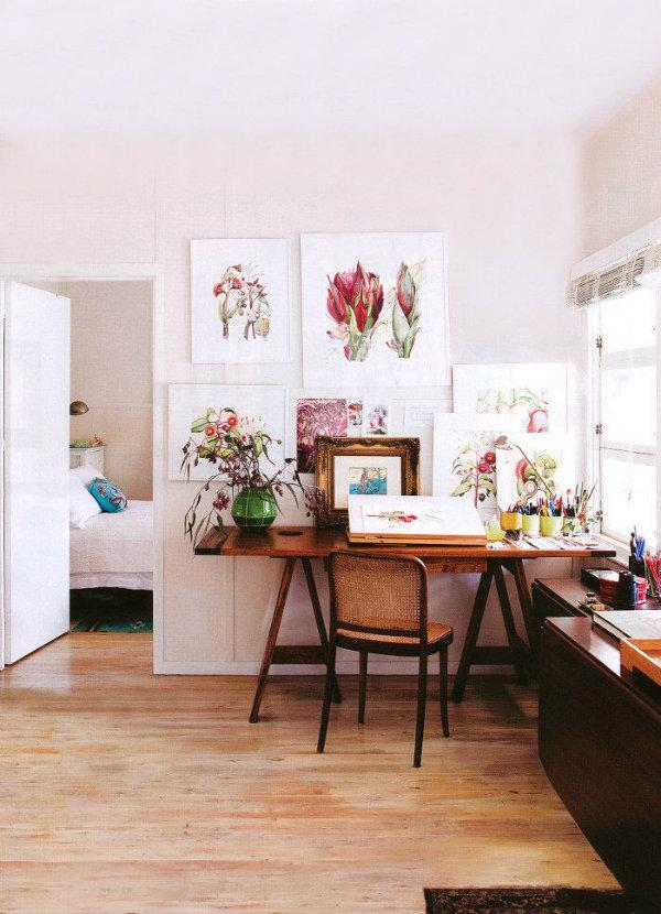 The home studio of artist Cherie-Christine