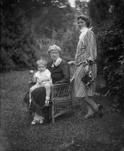 Helen Zelov, with her mother and son.