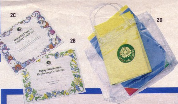 Daisy pouch and certificates (1984 catalog).