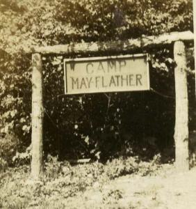 Old camp sign (GSCNC Archives)