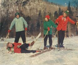 Girl Scouts snow ski