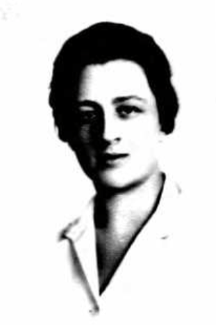 black and white headshot of a white woman