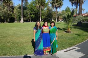 Abhinaya, Suchitha, and Arpita (in that order from left to right)