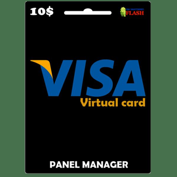 Prepaid Virtual Visa Card 10 USD (works worldwide)