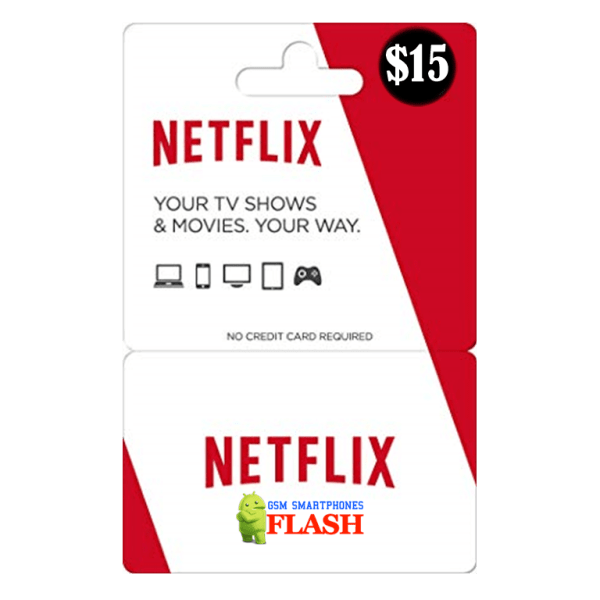 Netflix Gift Card 15 USD Email Delivery (US)