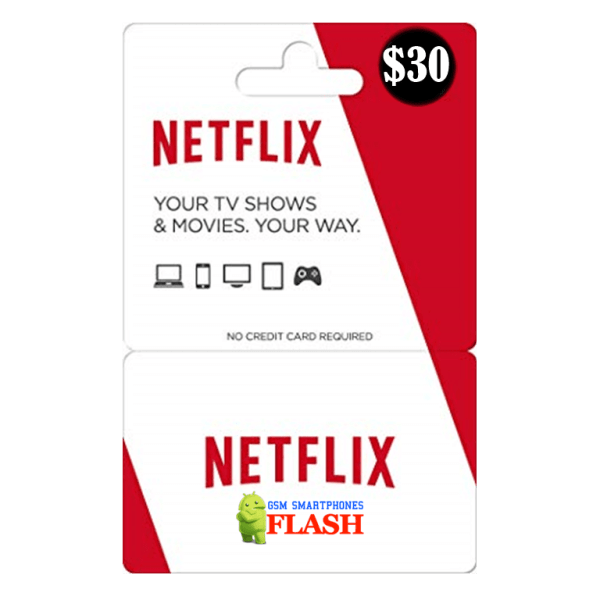 Netflix Gift Card 30 USD Email Delivery (US)