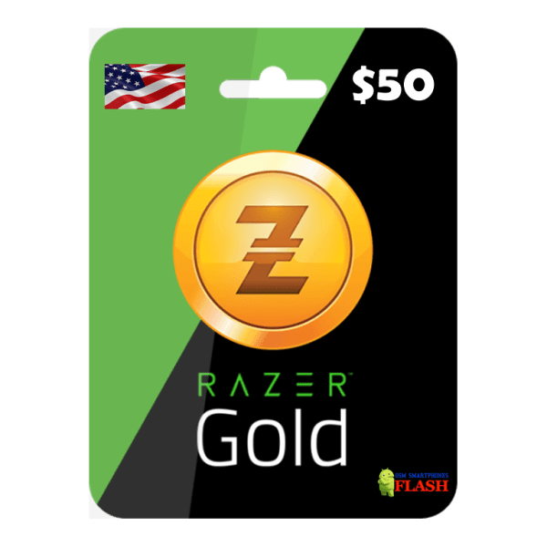 Razer Gold 50 USD Card Email Delivery (Rixty)