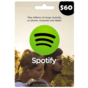 Spotify Gift Card 60 USD Email Delivery (US)
