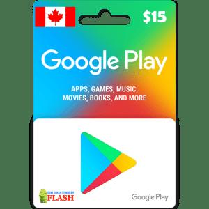 Google Play Gift Card CAD15 (CA)