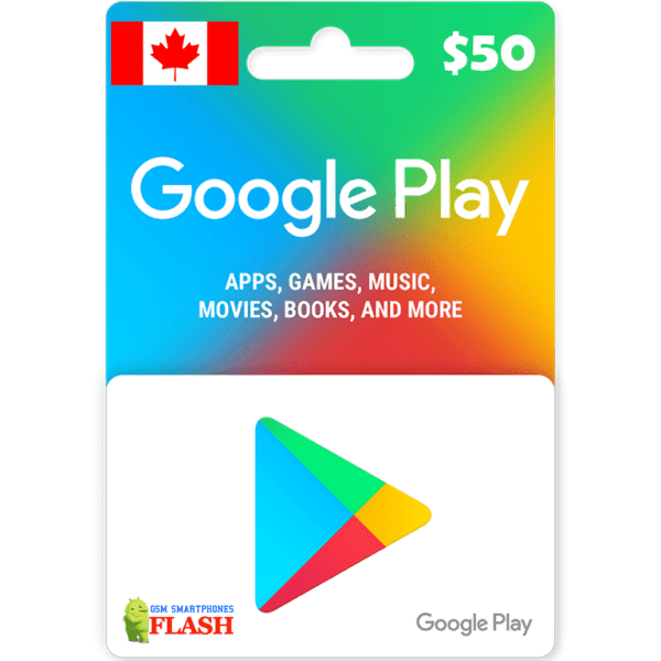 Google Play Gift Card CAD50 (CA)
