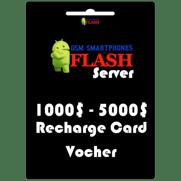 Gsmflashserver.com recharge voucher 1000 to 5000 credits