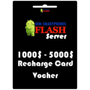 Gsmflashserver.com recharge voucher 1000 to 5000 credits