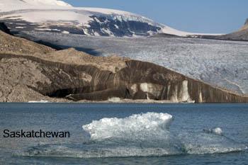 Frente del glaciar Saskatchewan