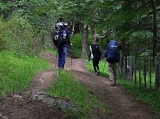 Caminando hacia el camping Serón