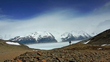 Paso John Gardner y Glaciar Grey