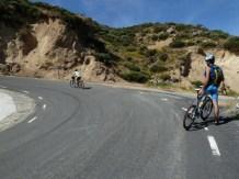 Cruz y Jaime llegando al km 10. Peña Negra (Foto cedida por Pepe)