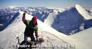 Cumbre Illimani (6462m)