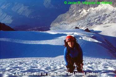 Pala final Mont Dolent